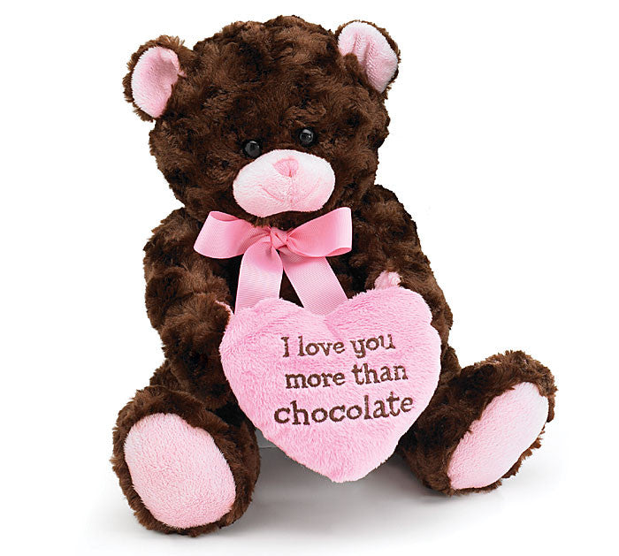 Chocolate Kiss Bear Plush, [Premier Gifts and Balloons], Plush Toys, Premier Gifts 'n Balloons