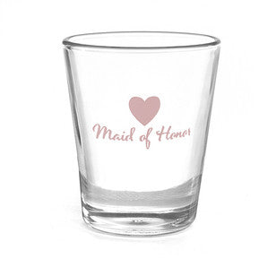 Maid of Honor Heart Shot Glass, [Premier Gifts and Balloons], Event Decorations, Premier Gifts 'n Balloons