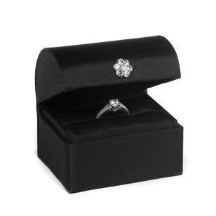 Satin Ring Box- Black, [Premier Gifts and Balloons], Event Decorations, Premier Gifts 'n Balloons