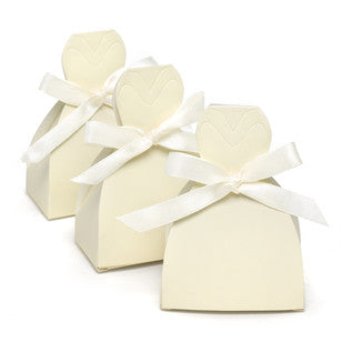 Ivory Gown Favor Boxes - Blank, [Premier Gifts and Balloons], Event Decorations, Premier Gifts 'n Balloons