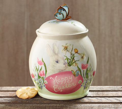 Cottontail Ceramic Cookie Jar, [Premier Gifts and Balloons], Cookie Jar, Premier Gifts 'n Balloons