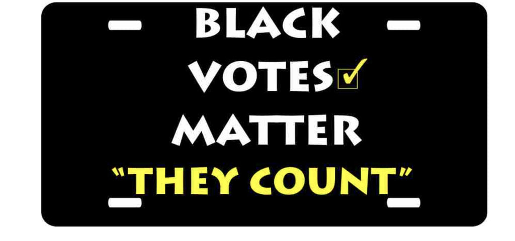 Black Votes Matter License Plate, [Premier Gifts and Balloons], Afrocentric, Premier Gifts 'n Balloons