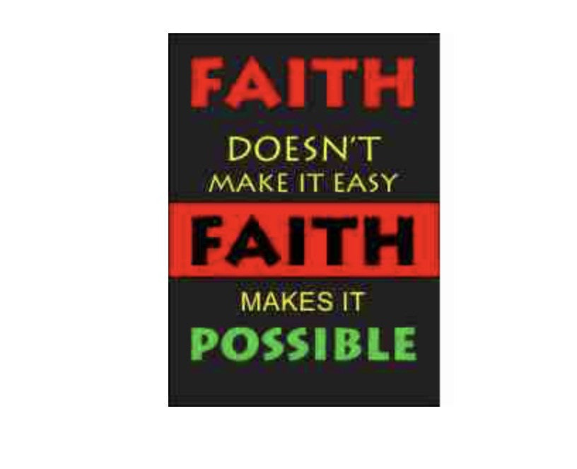 Faith Makes it Possible Refrigerator Magnet, [Premier Gifts and Balloons], Afrocentric, Premier Gifts 'n Balloons