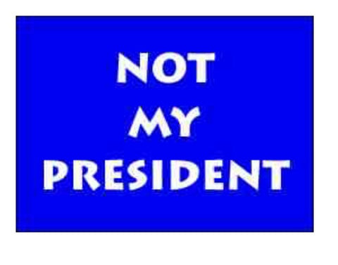 Not My President Refrigerator Magnet, [Premier Gifts and Balloons], Afrocentric, Premier Gifts 'n Balloons
