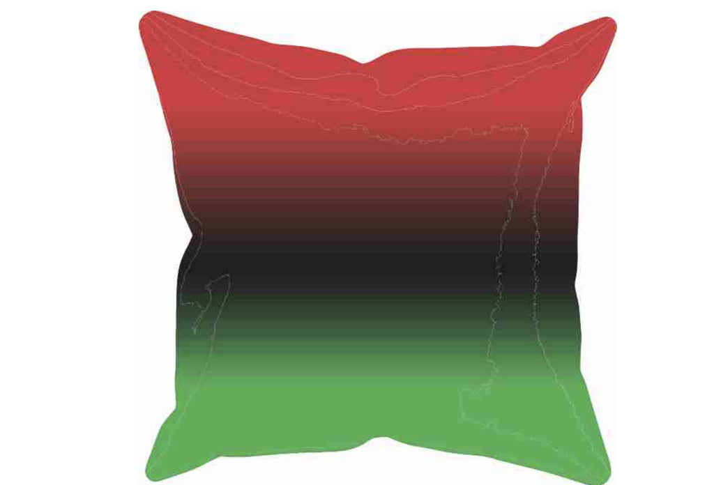 Red, Black and Green Throw Pillow, [Premier Gifts and Balloons], Afrocentric, Premier Gifts 'n Balloons