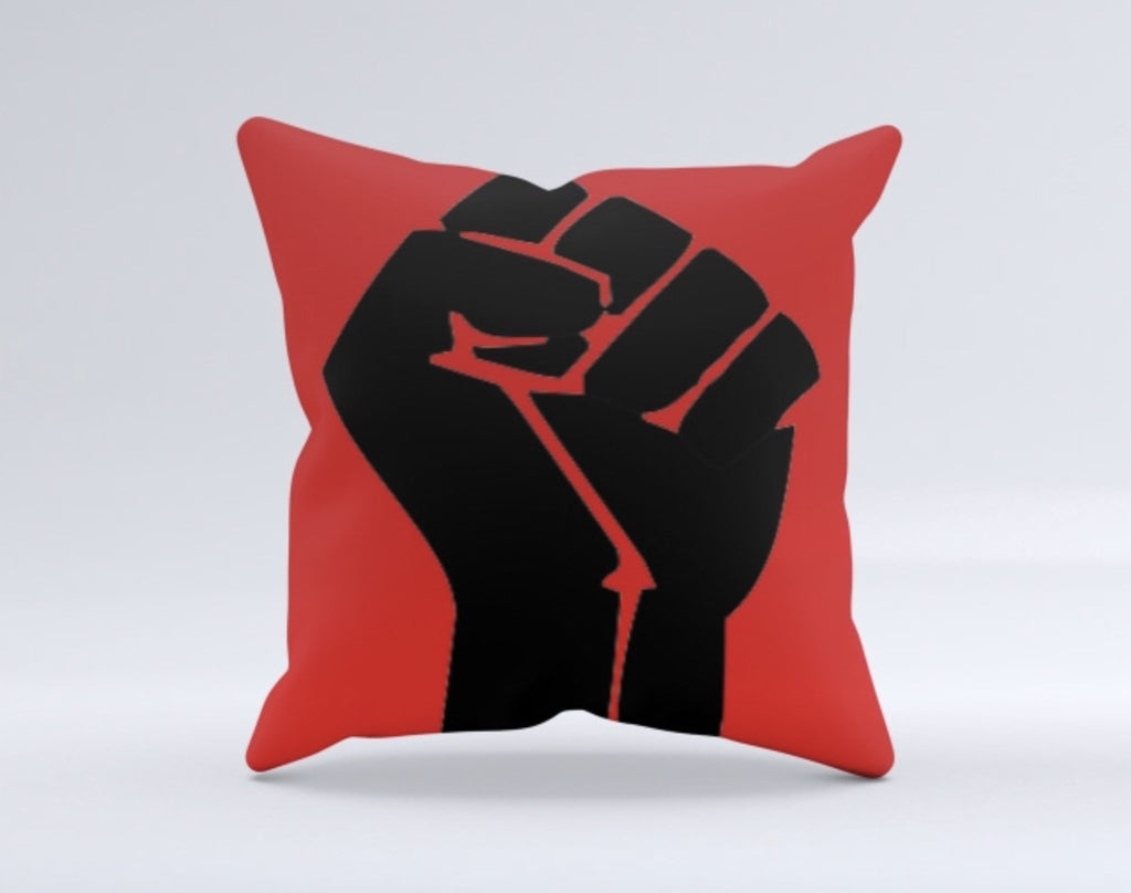 Black Power Throw Pillow, [Premier Gifts and Balloons], Afrocentric, Premier Gifts 'n Balloons