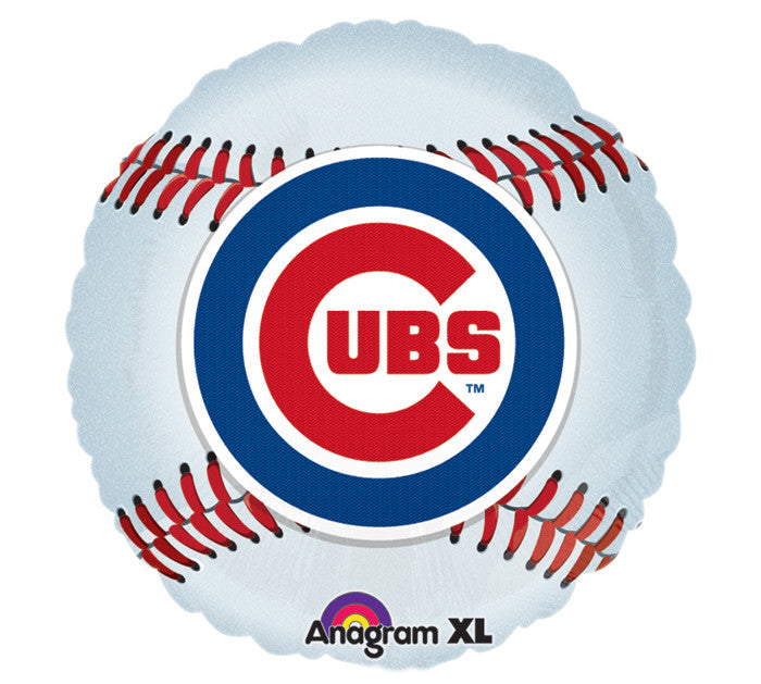 "18"" MLB Chicago Cubs Foil Balloon, [Premier Gifts and Balloons], Balloons, Premier Gifts 'n Balloons"