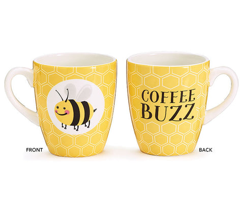 Coffee Buzz Ceramic Mug, [Premier Gifts and Balloons], Drinkware, Premier Gifts 'n Balloons