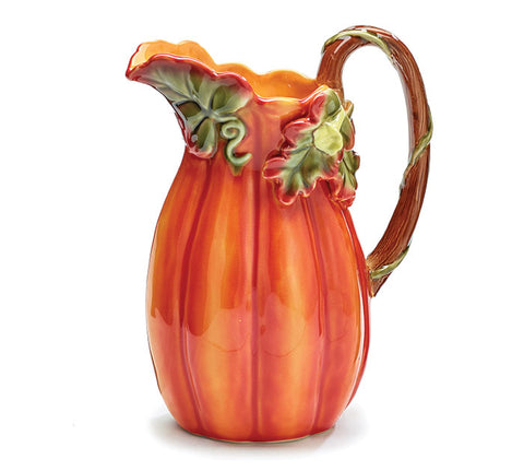 Tall Pumpkin Shaped Pitcher