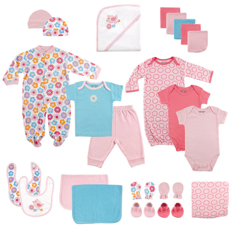 24 Piece Welcome Baby Pink Gift Cube