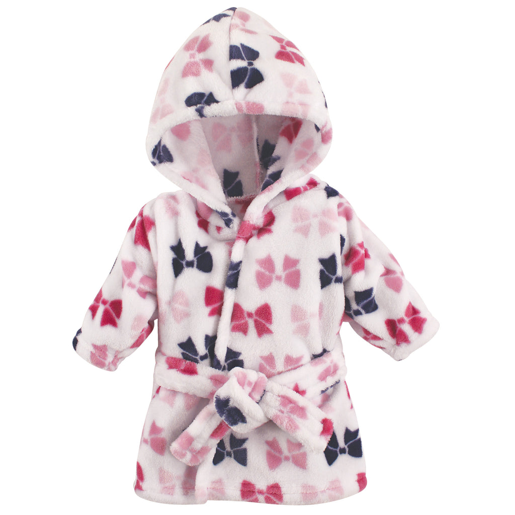 Baby Bows Soft Plush Hooded Bathrobe, [Premier Gifts and Balloons], Premier Baby, Premier Gifts 'n Balloons