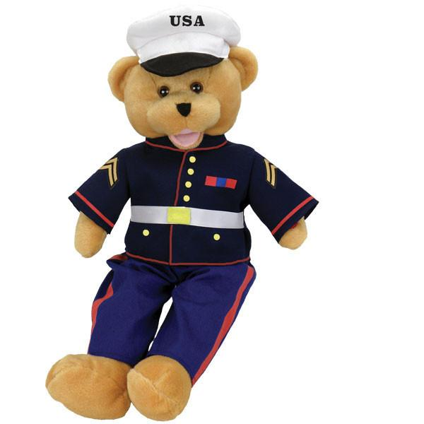 American Heroes Marine Bear, [Premier Gifts and Balloons], Plush Toys, Premier Gifts 'n Balloons