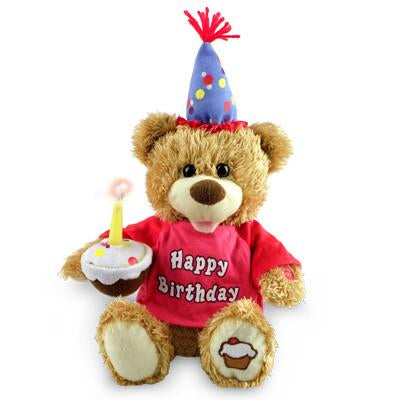 Happy Birthday Singing Cupcake Bear, [Premier Gifts and Balloons], Plush Toys, Premier Gifts 'n Balloons