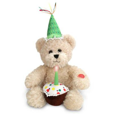 Happy Birthday Blow Out Musical Bear, [Premier Gifts and Balloons], Plush Toys, Premier Gifts 'n Balloons