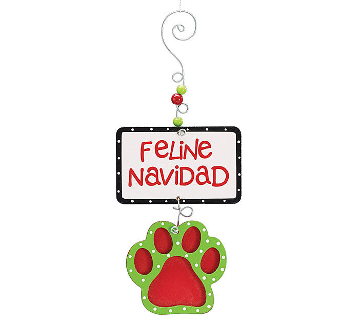 Feline Holiday Ornament, [Premier Gifts and Balloons], Home Decor, Premier Gifts 'n Balloons