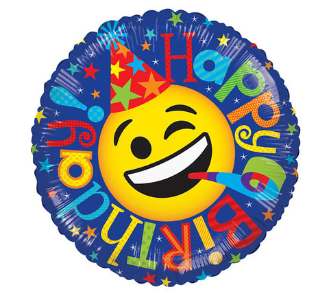 "17"" HBD Emoji Foil Balloon, [Premier Gifts and Balloons], Balloons, Premier Gifts 'n Balloons"