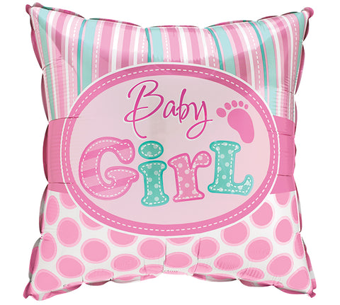 "17"" Baby Girl Dots Foil Balloon, [Premier Gifts and Balloons], Balloons, Premier Gifts 'n Balloons"