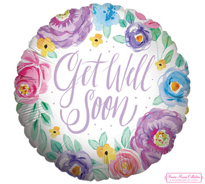 "9"" Flat GWS Floral Inspiration Foil Balloon, [Premier Gifts and Balloons], Balloons, Premier Gifts 'n Balloons"