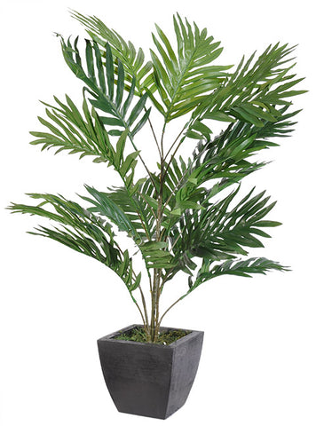 Artificial Palm Areca w/ Wood Plant, [Premier Gifts and Balloons], Gift Basket, Premier Gifts 'n Balloons