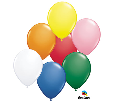 "11"" Pkg Popular Colors Asst Latex Balloon, [Premier Gifts and Balloons], Balloons, Premier Gifts 'n Balloons"