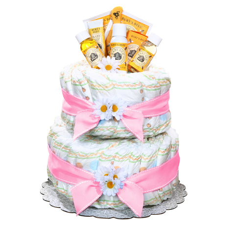 Burt's Bees Diaper Cake Girl, [Premier Gifts and Balloons], Diaper Cake, Premier Gifts 'n Balloons
