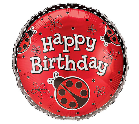 "18"" Lady Bug HBD Balloon, [Premier Gifts and Balloons], Balloons, Premier Gifts 'n Balloons"