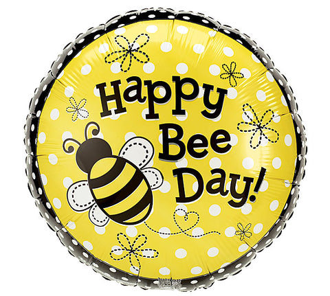 "18"" Pkg Happy Bee Day Balloon, [Premier Gifts and Balloons], Balloons, Premier Gifts 'n Balloons"