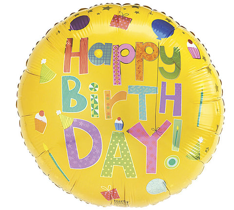 "18"" HBD Party Balloon, [Premier Gifts and Balloons], Balloons, Premier Gifts 'n Balloons"
