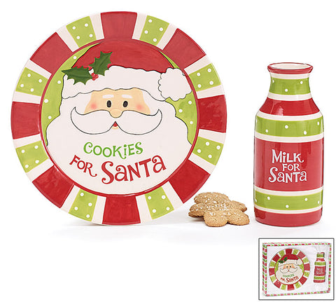 Cookies and Milk for Santa Gift Set, [Premier Gifts and Balloons], Cookie Jar, Premier Gifts 'n Balloons