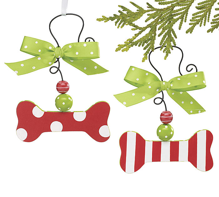 Dog Bone Holiday Ornament, [Premier Gifts and Balloons], For Pets, Premier Gifts 'n Balloons