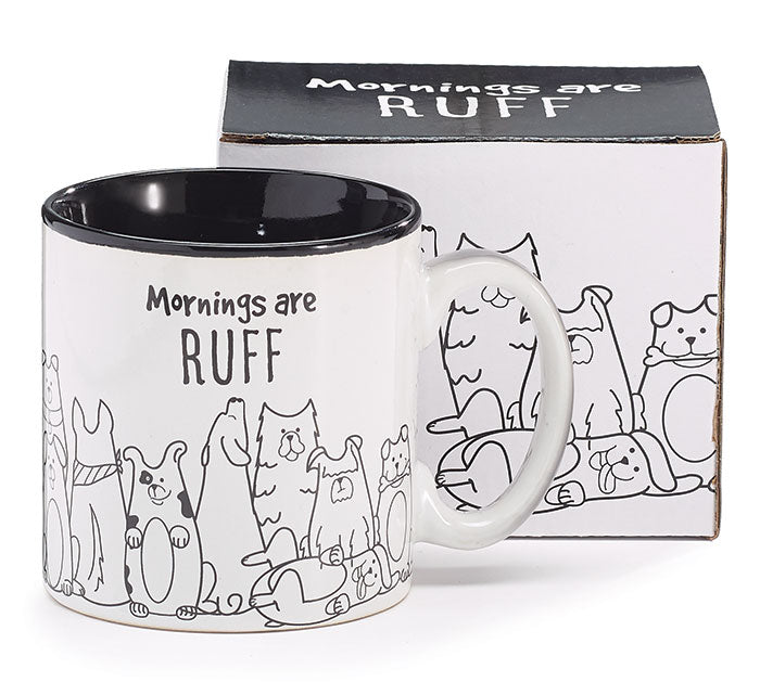 Mornings Are Ruff Mug, [Premier Gifts and Balloons], Drinkware, Premier Gifts 'n Balloons