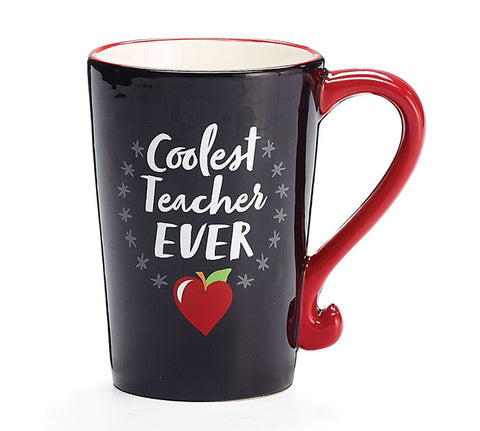 Coolest Teacher Every Ceramic Mug, [Premier Gifts and Balloons], Drinkware, Premier Gifts 'n Balloons