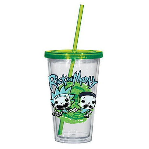 Rick and Marty Travel Cup, [Premier Gifts and Balloons], Drinkware, Premier Gifts 'n Balloons