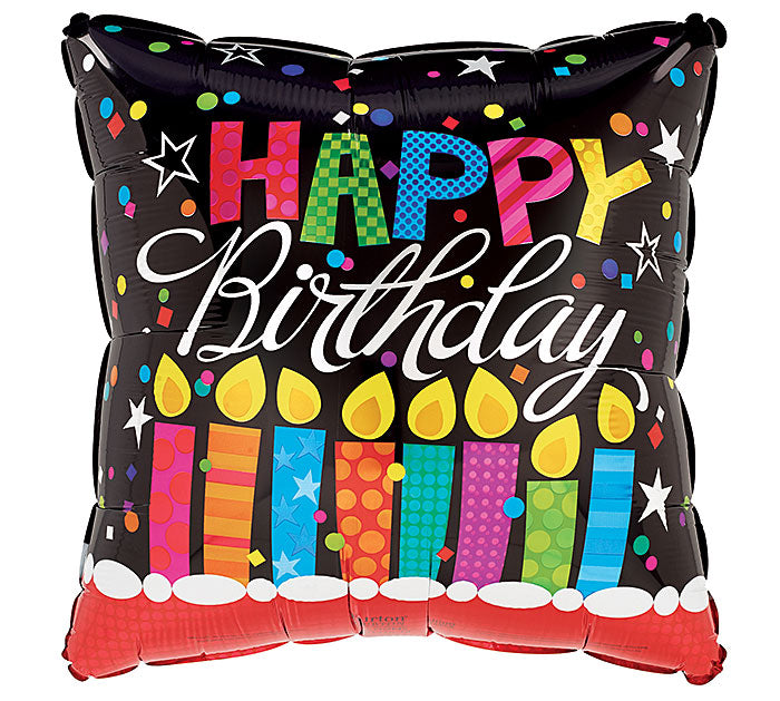 "9"" HBD Candle Balloon, [Premier Gifts and Balloons], Balloons, Premier Gifts 'n Balloons"