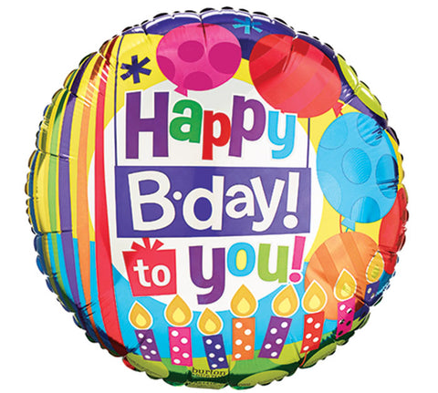 "9"" HBD To You Balloon, [Premier Gifts and Balloons], Balloons, Premier Gifts 'n Balloons"