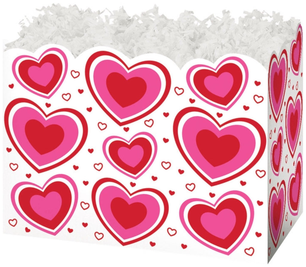 Flirty Heart Basket Box Small, [Premier Gifts and Balloons], Packaging, Baskets, Premier Gifts 'n Balloons