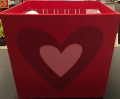 Valentine's Square Paper Pail, [Premier Gifts and Balloons], Packaging, Baskets, Premier Gifts 'n Balloons