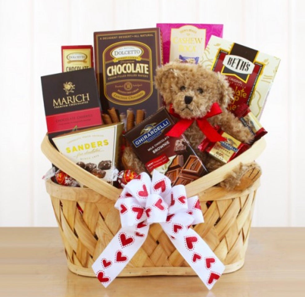 I Come Bear Ing Chocolate Valentine Gift Basket Premier Gifts