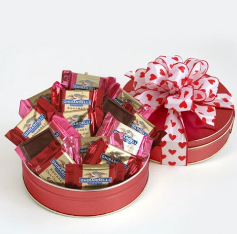 Ghirardelli Chocolate Lover's Valentine's Surprise Gift, [Premier Gifts and Balloons], Gift Basket, Premier Gifts 'n Balloons