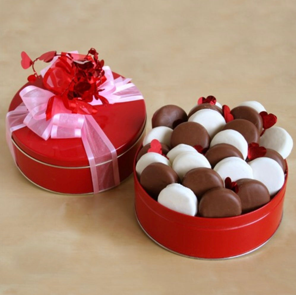 Chocolate and Delicious Valentine Cookie Tin, [Premier Gifts and Balloons], Gift Basket, Premier Gifts 'n Balloons
