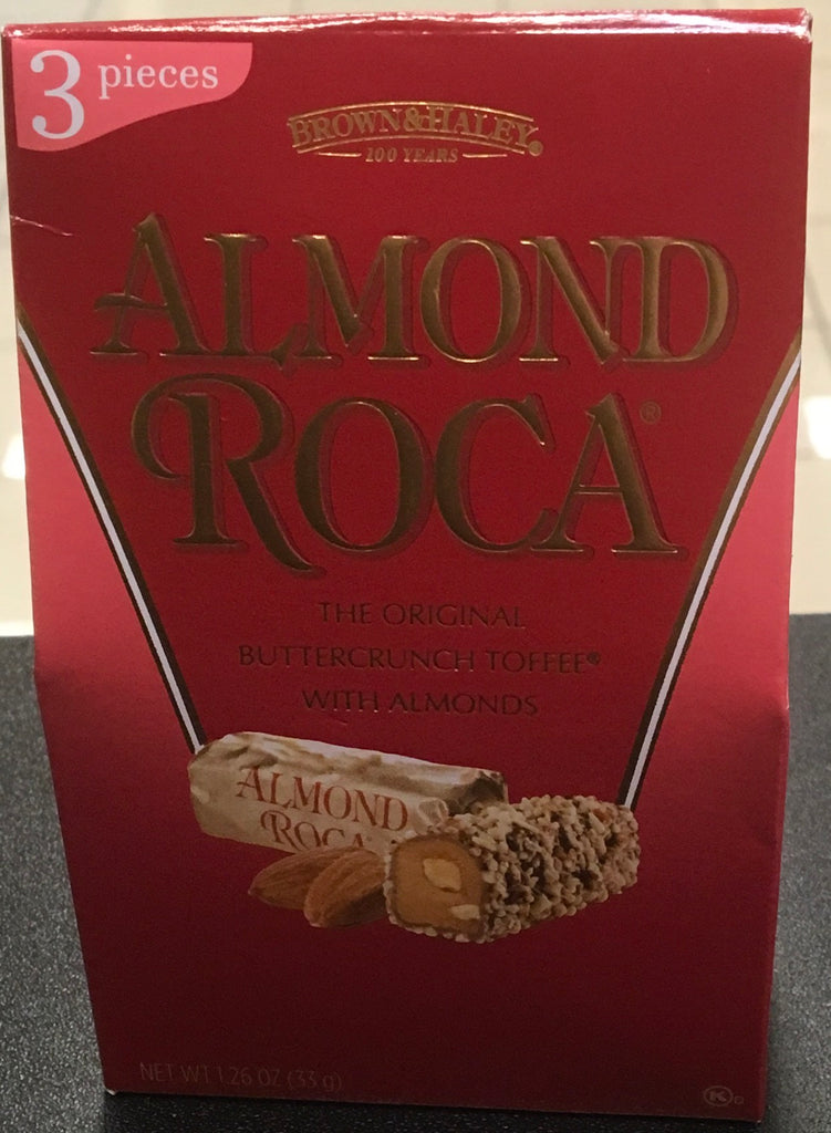 B & H Almond Roca 3pc Red Box, [Premier Gifts and Balloons], Premier Snacks, Premier Gifts 'n Balloons