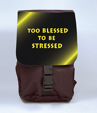 Too Blessed to be Stressed Backpack, [Premier Gifts and Balloons], Afrocentric, Premier Gifts 'n Balloons
