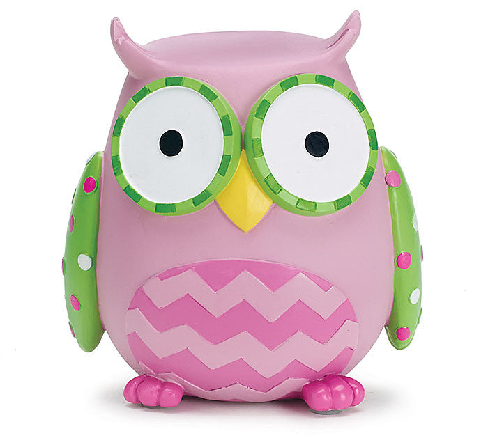 Pink Owl Bank - Premier Gifts n Balloons