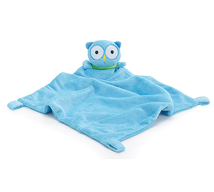 Owl Security Blanket Blue, [Premier Gifts and Balloons], Premier Baby, Premier Gifts 'n Balloons