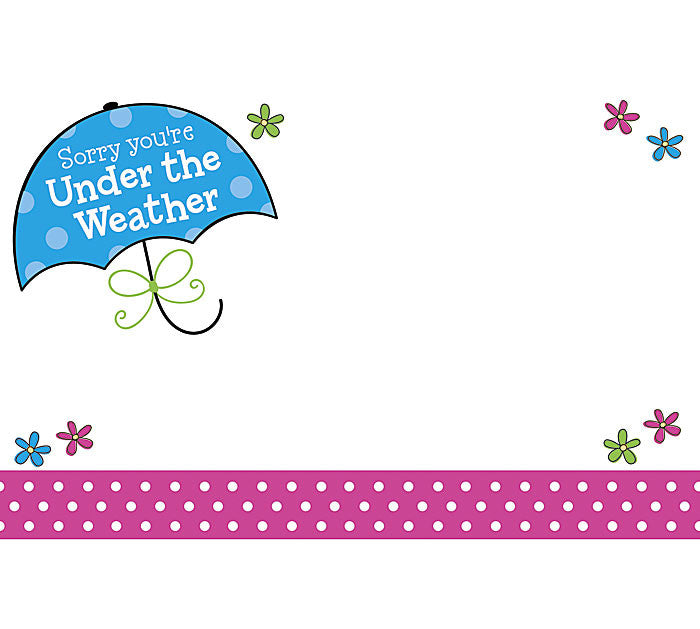 Under the Weather Enclosure Card, [Premier Gifts and Balloons], Wrapping, Premier Gifts 'n Balloons