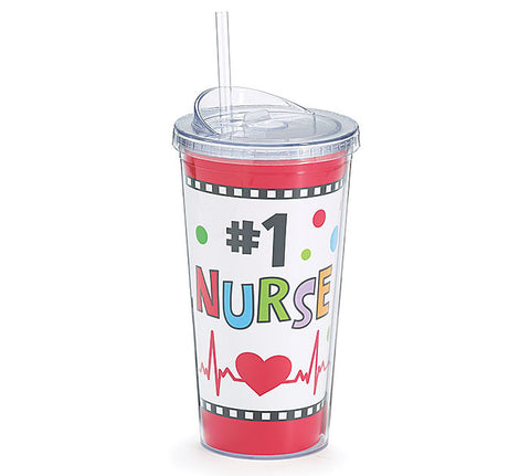 #1 Nurse Travel Cup, [Premier Gifts and Balloons], Drinkware, Premier Gifts 'n Balloons