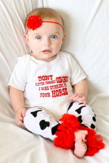 Don't Flatter Yourself Cowboy Baby Set, [Premier Gifts and Balloons], Baby Clothes, Premier Gifts 'n Balloons