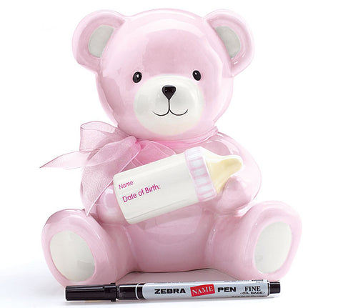 Baby Girl Bear Bank - Premier Gifts n Balloons