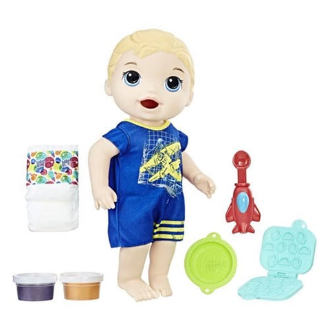 Baby Alive Super Snacks Snackin' Luke Doll, [Premier Gifts and Balloons], , Premier Gifts 'n Balloons