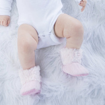 Pink Baby Fur Boots